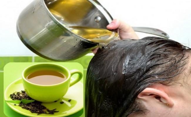 Chá Verde Para Lavar o Cabelo