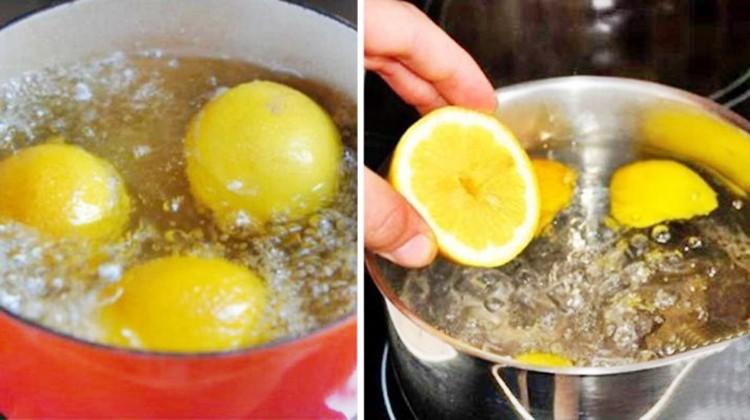 receita caseira do limão fervido