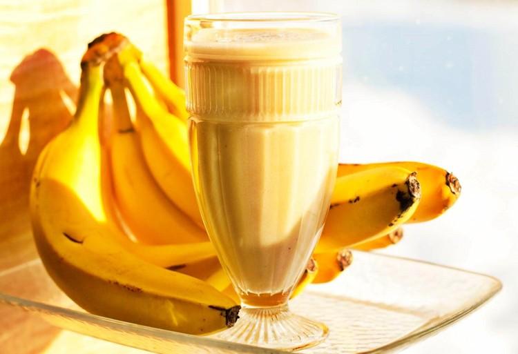 vitamina de banana para o cansaço